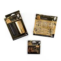 Sara Signature Black & Gold - Foil Rolls x 2, Foil Transfers x 6 -517559