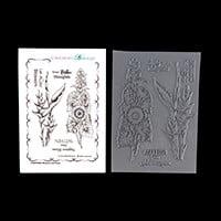 Chocolate Baroque Blossom and Grow A6 5 Stamp Sheet-517583