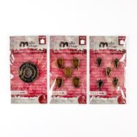 Spellbinders 3 x Metal Embellishment Sets - Circles, Triangles On-517834