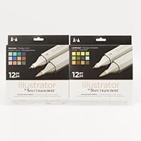 Spectrum Noir Illustrator Markers 24 Pens - Seascape & Landscape-517910