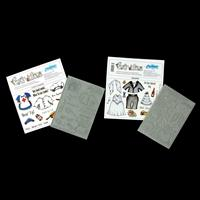 Creative Expressions 2 x Bear-Ations Stamp Plates - Chef And Nurs-518149