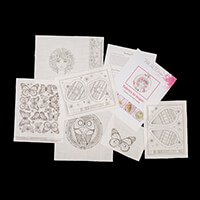 Pink Ink Designs Colour, Cut & Create Flower Lady with 3D element-519817