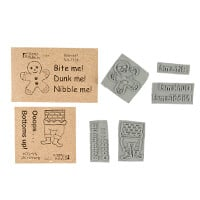 Stamp Addicts Cling Mounted Rubber Stamp Sets - Gingerbread & Bot-520966