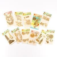 Set of 11 MDF Embellishment Packs - Assorted Designs - 43 Embelli-525873