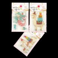 Wild Rose Studio 3 x Stamp Sets - Birthday Llama, Mum & Baby Llam-529520