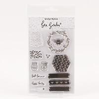 StickerKitten Bee Garden Clear A6 Stamp Sheet-531852