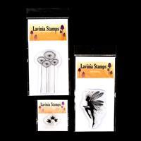 Lavinia Stamps Faith, Lunar Buds and Mini Leaf 5 Stamp Set - 3 St-532119