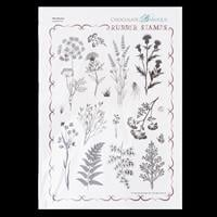 Chocolate Baroque Wild Meadow A4 Rubber Stamp-532213