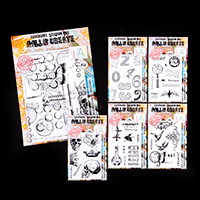 AALL & Create 6 x Mixed Media Stamp Sets - 46 Stamps-534581