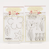 Which Craft? 2 A6 Stamp Sets - Floral Art 2 and Tulip Trio-535741