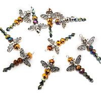 Impressions Crafts 10 x Small Beaded Dragonflies-535956