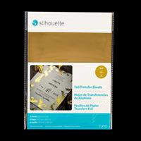 Silhouette Foil Transfer Sheets - Gold - 6 Sheets-538331