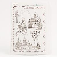 Chocolate Baroque Fantasy Castles A5 Stamp Sheet-538509