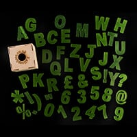 Kallosphere Letters, Numbers and Symbols Set Plus Storage Box-539643