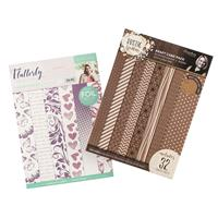 Sara Signature A4 Luxury Foiled Flutterby Pad & A4 Printed Rustic-540288