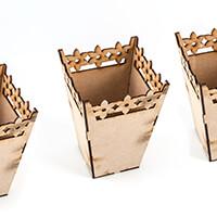 Daisy's Set of Three MDF Vases-541134