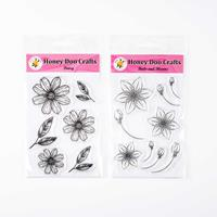 Honey Doo Crafts Handmade Flowers Stamp Collection - Daisy and Bu-544019