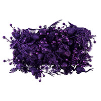 36 x Purple 16.3cm Glitter Bird Picks-544065