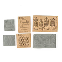 Stamp Addicts 3 x Cling Mounted Rubber Stamp Sets - Townhouses, M-545749