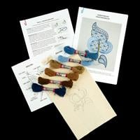Quilt Dragon Kits - Jacobean Leaf Crewel Complete Embroidery Kit -545986