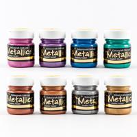 Colouricious Introductory Metallic Fabric Paint Set 8 x 28ml-547733