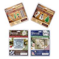 Sheena Douglass 4 x Die Sets - Snowflakes, Landscaping, Luscious -548563
