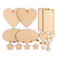 Karacter Krafts Cute Accessory Set of 6 Shapes & Embellishments-548717