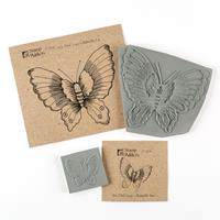 Stamp Addicts Cling Mounted Rubber Stamps - Lucy's Butterflies - -549848