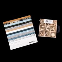 Kaisercraft Let's Go 40 Sheet Paper Pad & Laser Cut Wooden Shapes-551605