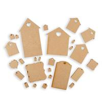 Olifantjie Whimsical Houses and Tags MDF Embellishment Kit-552720