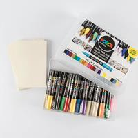 Posca PC-1M 22 Piece Assorted Collection Box with Free 10 x Postc-553212