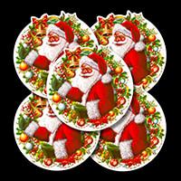 Festive 5 x Window Cling Decorations - Santa - 31x32cm-553532