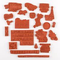 IndigoBlu Big Save Large Bundle of Red Rubber Stamps-553615