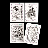 Chocolate Baroque 4 x A6 Cling Mount Rubber Stamps Sets-555472