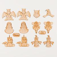 Karacter Krafts Set of 15 Mini Fantasy Characters - 3 x Wizard, 3-555667