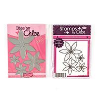 Stamps by Chloe Wild Flower Stamp and Die Duo - 4 Stamps & 4 Dies-557944