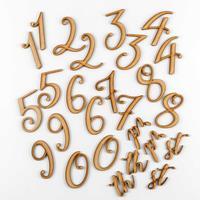 Dawn Bibby Set of 26 MDF Numbers-560768