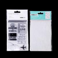 Kaisercraft Let's Go Clear Stamp Set & Flight Path Embossing Fold-564753