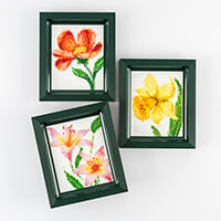 PixelHobby 3 in 1 Flower Bundle - 3 x Baseplates & 76 x Pixelsqua-566046
