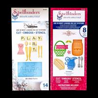 Set of 2 Spellbinders Die Sets - Mix'd Media Playtime & Homespun -566095