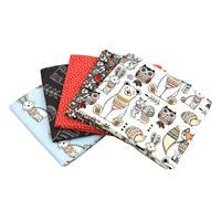 Sewing Online Woodland Fat Quarter Bundle containing 5 designs 18-566672