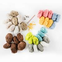 Glitter Magic Wool Collection - Inc 36 Balls of Wool, 3 Ribbons, -567195