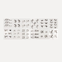 Art & Craft Glitter Greetings Pack of 12 Acetates - Cats and Dogs-570626