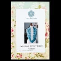 The Lace Knittery Mermaid Infinity Scarf Pattern with Keepsake Fo-571711