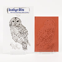 IndigoBlu A6 Red Rubber Stamp-571889