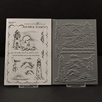Chocolate Baroque Seashore Scenes A5 Stamp Sheet- 11 Images-572382