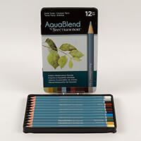 Spectrum Aquablend Pencils x 12 - Earth Tones-573277