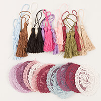 Craft Buddy 20 Vintage Tassels and 14 Lace motifs-578194