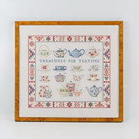 Permin Treasures For Teatime Linen Cross Stitch Kit - 51cm x 47cm-579382