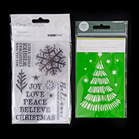 Kaisercraft Set of 12 Wonderland Clear Stamps with Christmas Tree-582262